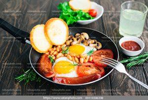 دانلود عکس صبحانه نیمرو و مخلفات